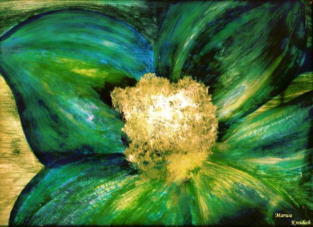 La Fleur Bleue - Dessiner par : Marwa Kreidieh