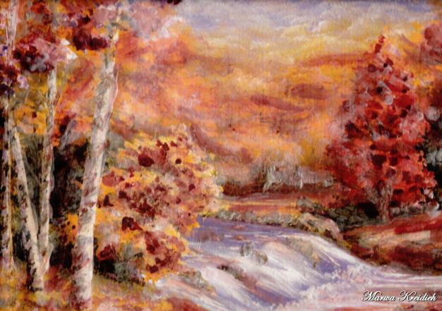 l'automne- Dessiner par : Marwa Kreidieh - 2006